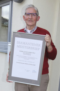 Diamantener Meisterbrief für Anton hornstra